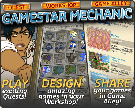 Gamestar Mechanic: Play exciting Quests, Design amazing games in your Workshop